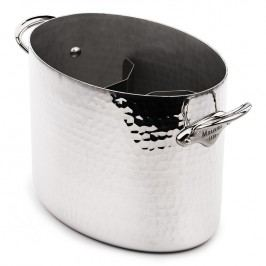 MAUVIEL Hliníková tepaná chladiaca nádoba na sekt oválna Ø 26 cm
