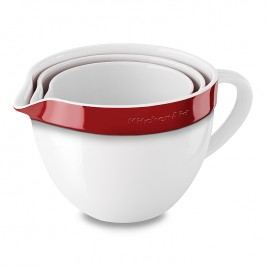 KitchenAid Súprava keramických pracovných mís 3 ks kráľovská červená