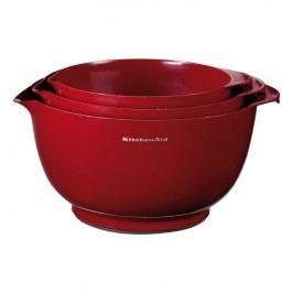 KitchenAid Súprava kuchynských misiek 3 ks Professional kráľovská červená