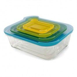 Joseph Joseph Kompaktná súprava sklenených nádob s viečkami Nest™ Glass Storage