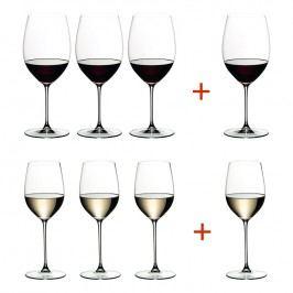 Riedel Výhodné balenie pohárov 3 + 1 Cabernet/Merlot a 3 + 1 Viognier/Chardonnay Veritas