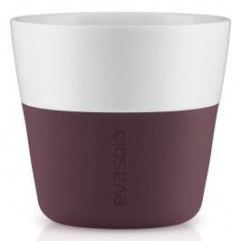 Eva Solo Termohrnčeky na kávu Lungo 230 ml 2 kusy tmavá burgundy