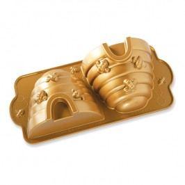 NordicWare Forma na 3D včelí úľ Beehive Bundt® zlatá, Nordic Ware