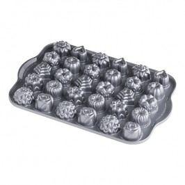 NordicWare Forma na 30 kúskov cukroviniek Tea Cakes and Candies Bundt® strieborná, Nordic Ware