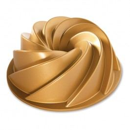 NordicWare Forma na bábovku špirála Heritage Bundt® zlatá, Nordic Ware