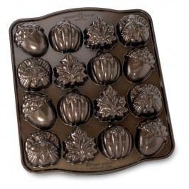 NordicWare Forma na 16 kúskov čajového pečiva Autumn Bundt® bronzová, Nordic Ware