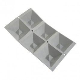 de Buyer Profi silikónová forma na 6 porcií pyramíd s priehlbinou Elastomoule®