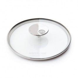 MAUVIEL Sklenená pokrievka s držadlom z nehrdzavejúcej ocele Ø 28 cm