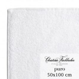 Christian Fischbacher Uterák 50 x 100 cm biely Puro, Fischbacher