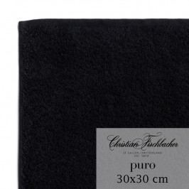 Christian Fischbacher Uterák na ruky/tvár 30 x 30 cm čierny Puro, Fischbacher