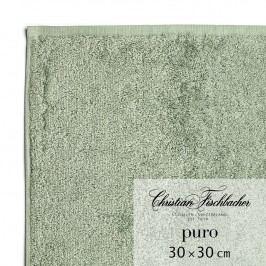 Christian Fischbacher Uterák na ruky/tvár 30 x 30 cm zelenosivý Puro, Fischbacher
