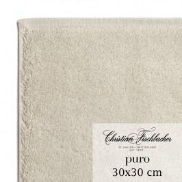 Christian Fischbacher Uterák na ruky/tvár 30 x 30 cm pieskový Puro, Fischbacher