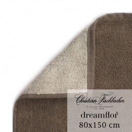 Christian Fischbacher Osuška 80 x 150 cm dvojfarebná piesková/hnedá Dreamflor®, Fischbacher