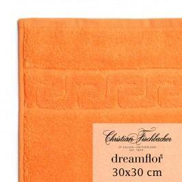 Christian Fischbacher Uterák na ruky/tvár 30 x 30 cm oranžový Dreamflor®, Fischbacher