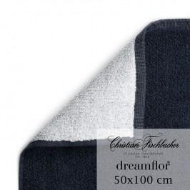 Christian Fischbacher Uterák 50 x 100 cm dvojfarebný biela/temne modrá Dreamflor®, Fischbacher