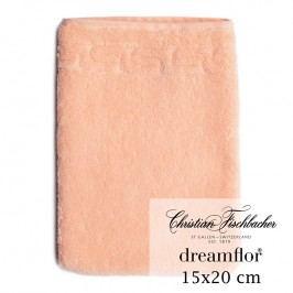 Christian Fischbacher Rukavica na umývanie 15 x 20 cm lososová Dreamflor®, Fischbacher