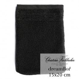 Christian Fischbacher Rukavica na umývanie 15 x 20 cm čierna Dreamflor®, Fischbacher
