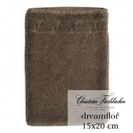 Christian Fischbacher Rukavica na umývanie 15 x 20 cm hnedá Dreamflor®, Fischbacher