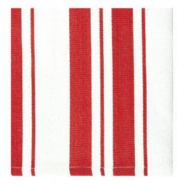 MÜkitchen Kuchynské utierky/uteráky s červenými pásikmi malé MÜincotton® 2 ks