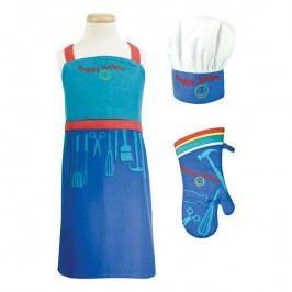 MÜkitchen Detská súprava zástera, chňapka a kuchárska čiapka MiniMÜ® Happy Helper