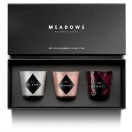 Meadows Derčeková kolekcia 3 vonných sviečok mini Mystic Cashmere