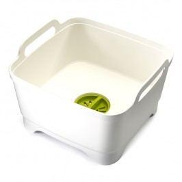 Joseph Joseph Plastový drez na umývanie riadu s odtokom biely Wash&Drain™