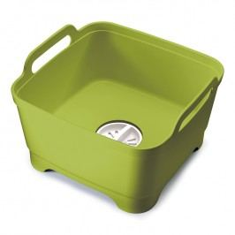 Joseph Joseph Plastový drez na umývanie riadu s odtokom zelený Wash&Drain™