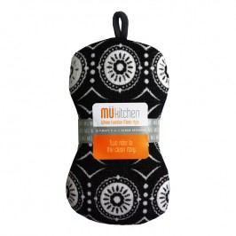 MÜkitchen Kuchynská hubka čierna Marrakesh Multi MÜmicro®