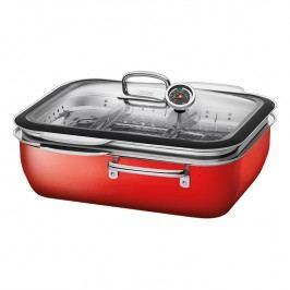 Silit Ecompact® systém na varenie v pare, pečenie a údenie s dvoma parnými vložkami červený