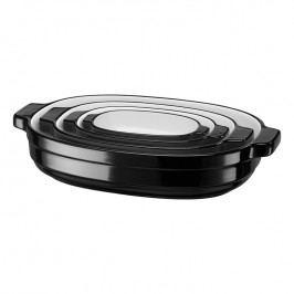 KitchenAid Súprava oválnych zapekacích mís 4 ks čierna