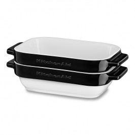 KitchenAid Súprava Mini keramických pekáčov 2 ks čierna