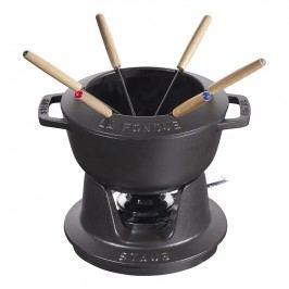 Staub Súprava na fondue čierna Ø 16 cm