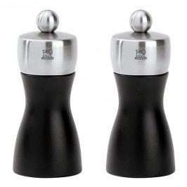 Peugeot Súprava mlynčekov na korenie a soľ FIDJI čierna matná/nehrdzavejúca oceľ 12 cm