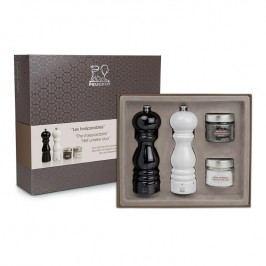 Peugeot Súprava Les Inséparables: mlynčeky na soľ a korenie PARIS uSelect čierna a biela 18 cm