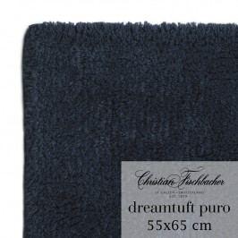 Christian Fischbacher Kúpeľňový koberček 55 x 65 cm temne modrý Dreamtuft Puro, Fischbacher