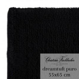 Christian Fischbacher Kúpeľňový koberček 55 x 65 cm čierny Dreamtuft Puro, Fischbacher
