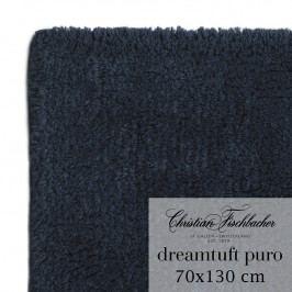 Christian Fischbacher Kúpeľňový koberček 70 x 130 cm temne modrý Dreamtuft Puro, Fischbacher
