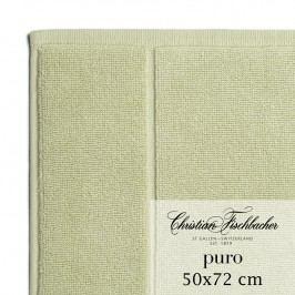 Christian Fischbacher Kúpeľňová predložka 50 x 72 cm bledozelená Puro, Fischbacher