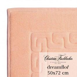 Christian Fischbacher Kúpeľňová predložka 50 x 72 cm lososová Dreamflor®, Fischbacher