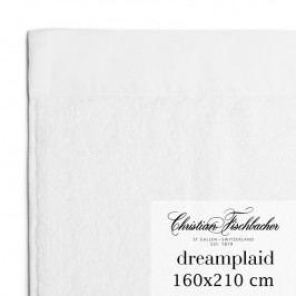 Christian Fischbacher Extra veľká osuška 160 x 210 cm biela Dreamplaid, Fischbacher