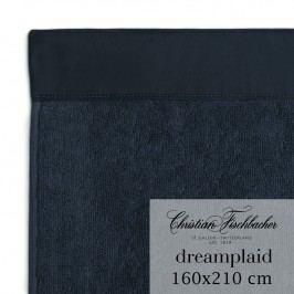 Christian Fischbacher Extra veľká osuška 160 x 210 cm temne modrá Dreamplaid, Fischbacher