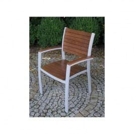 Stolička záhradný Rojaplast Istria hnedý