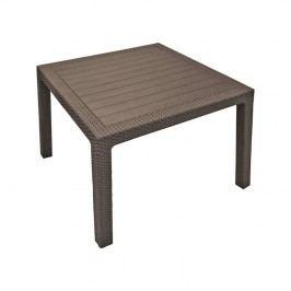Stôl Rojaplast Melody Quarted hnedý