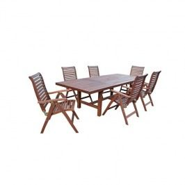 Stôl Rojaplast Lyon hnedý + Doprava zadarmo
