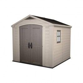 Záhradný domček Keter FACTOR 8x8 sivý/béžový + Doprava zadarmo