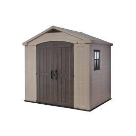 Záhradný domček Keter FACTOR 8x6 sivý/béžový + Doprava zadarmo
