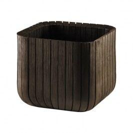 Kvetináč ratanový Keter Cube planter M hnedý