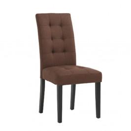 Jedálenská stolička, hnedá/čierna, REFINA NEW