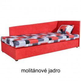 TEMPO KONDELA Váľanda s úložným priestorom, pravá, s molitánovým matracom, 90x200, EDVIN 4 LUX