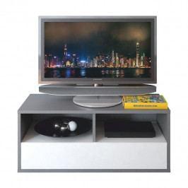 RTV stolík, sivá grafit/biela, MARSIE M13